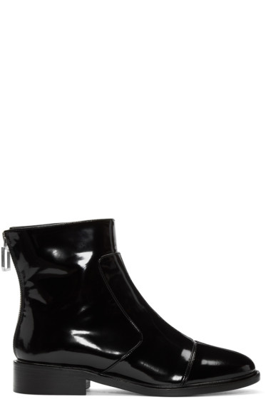 Courrèges - Black Zippered Boots