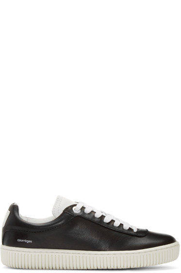 Courrèges - Black Leather Sneakers