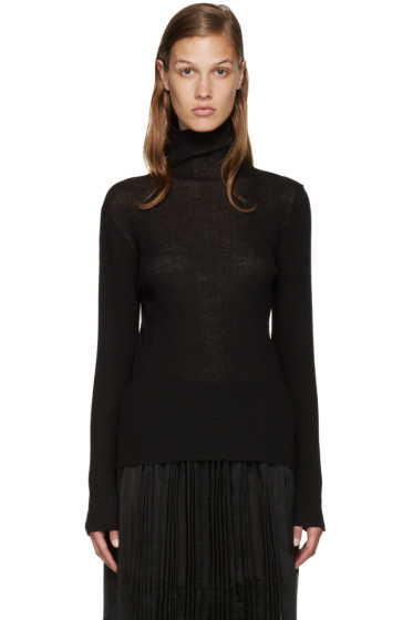 Sara Lanzi - Black Wool Turtleneck