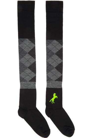 Haal - Black Cassiopeiae Over-the-Knee Socks
