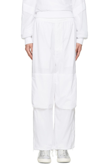 Perks and Mini - White Nylon Lounge Pants