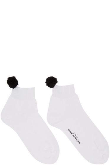 Tricot Comme des Garçons - White Pom Pom Socks