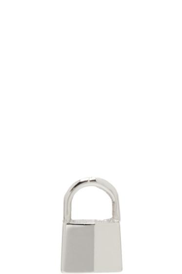 Lauren Klassen - White Gold Tiny Padlock Earring