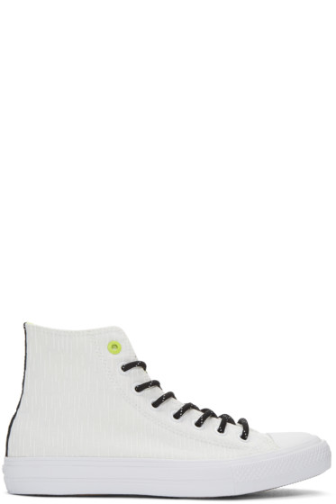 Converse - White Reflective Chuck Taylor All Star II High-Top Sneakers