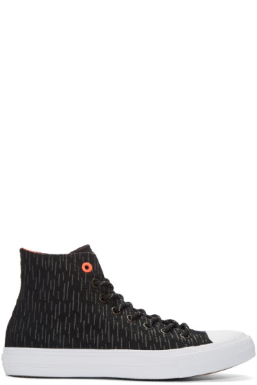 Converse - Black Reflective Chuck Taylor All Star II High-Top Sneakers
