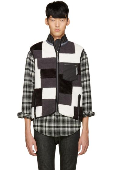 Ganryu - Tricolor Fleece Patchwork Vest