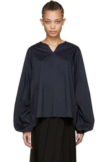 Cyclas - Navy Smock Blouse