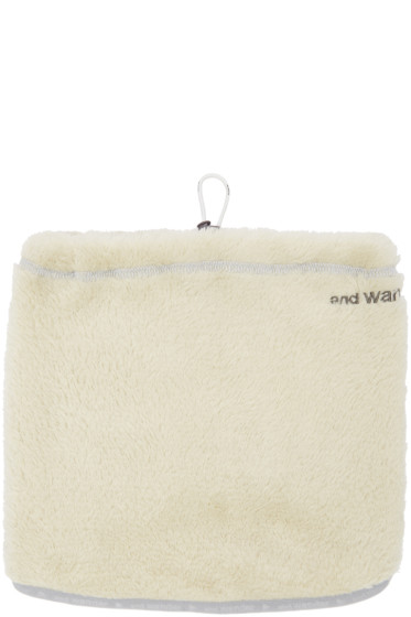 and Wander - Off-White Fleece Neck Warmer