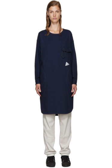 and Wander - Navy Flannel Tunic