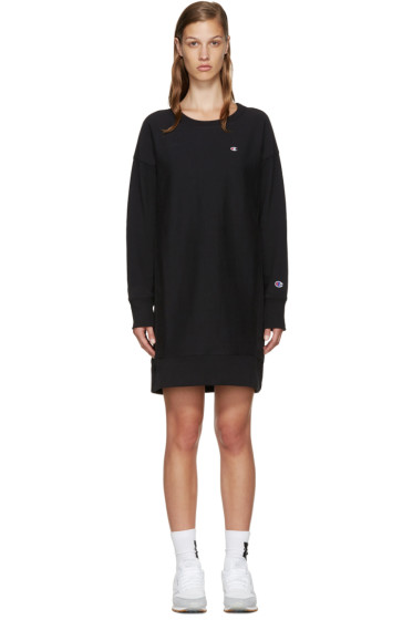 Champion Reverse Weave - Black Logo Pullover Dress