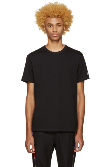 Champion Reverse Weave - Black Heavy Jersey T-Shirt