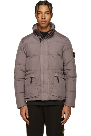 Stone Island - Grey Crinkle Down Jacket