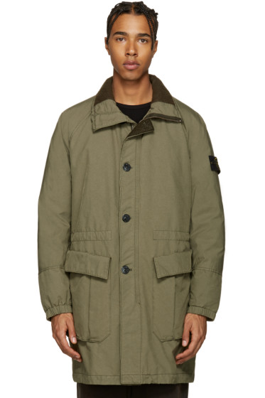 Stone Island - Green Down David-TC Coat