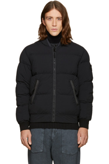 Stone Island - Black Down Bomber Jacket