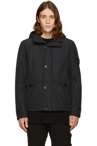 Stone Island - Black Hooded Jacket