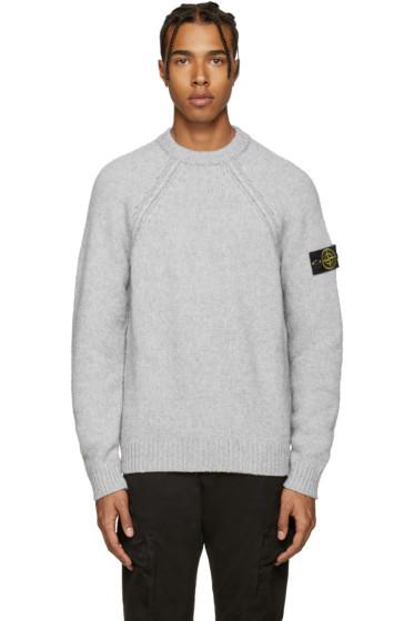 Stone Island - Grey Knit Sweater
