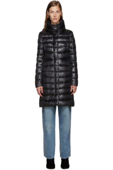 Herno - Black Nylon Classic Cocoon Down Jacket