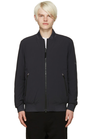 ISAORA - SSENSE Exclusive Reversible Grey Bomber Jacket