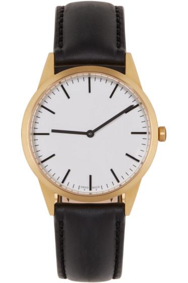 Uniform Wares - Gold & Black C35 Watch