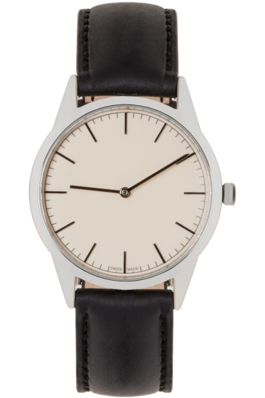 Uniform Wares - Silver & Black C35 Watch