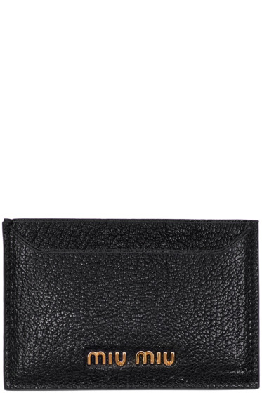 Miu Miu - Black Logo Card Holder