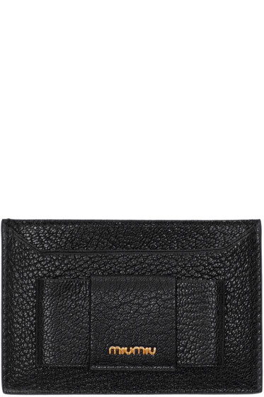 Miu Miu - Black Bow Card Holder