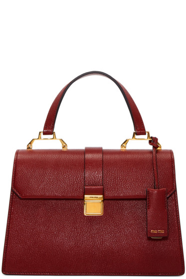 Miu Miu - Red Leather Top Handle Bag