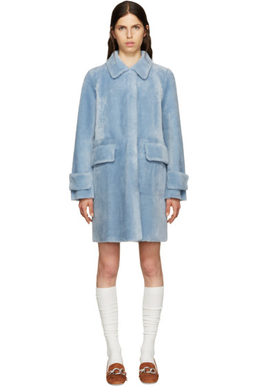 Miu Miu - Blue Shearling Coat