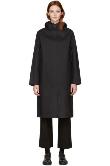Mackintosh - Black Long Hooded Coat