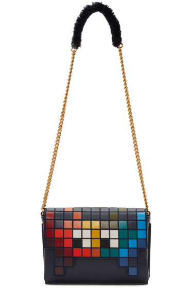 Anya Hindmarch - Blue Space Invaders Ephson Bag