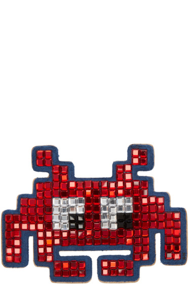 Anya Hindmarch - Red Diamante Space Invader Sticker