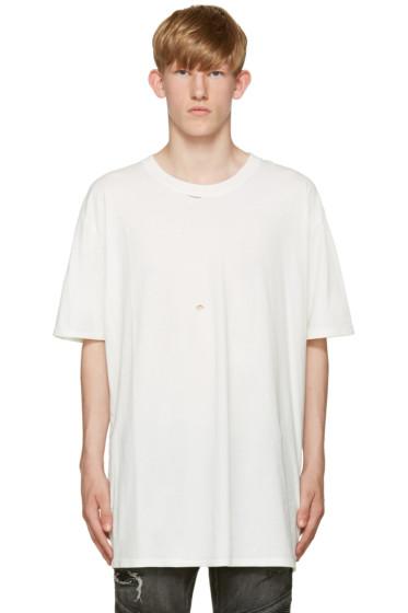 Faith Connexion - White Destroyed T-Shirt