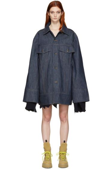 Matthew Adams Dolan - Indigo Denim Falling Cuff Jacket