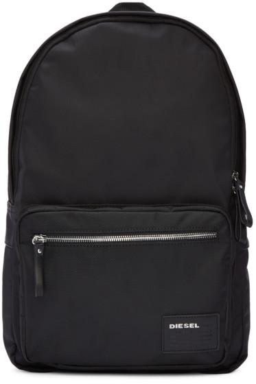 Diesel - Black Nylon Drum Roll Backpack