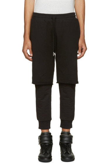 Diesel - Black Layered P-Vicente Lounge Pants