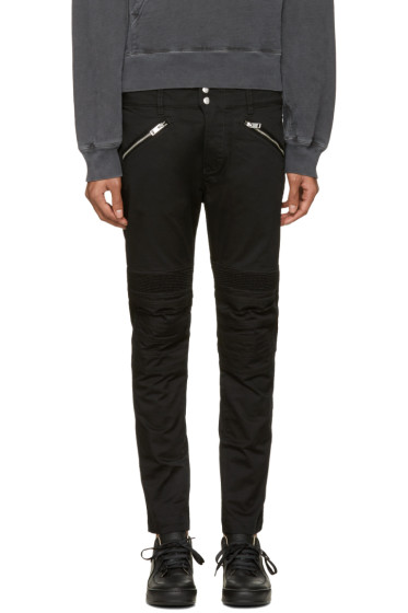 Diesel - Black P-Ray Zip Trousers