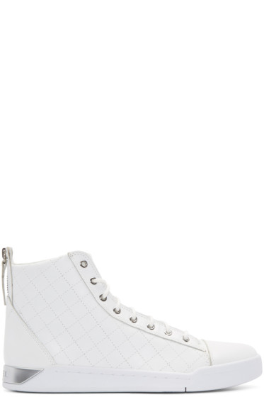 Diesel - White Diamond High-Top Sneakers