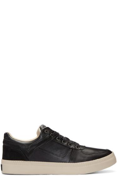 Diesel - Black Leather S-Spaark Sneakers