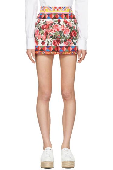 Dolce & Gabbana - Pink Maiolica Shorts