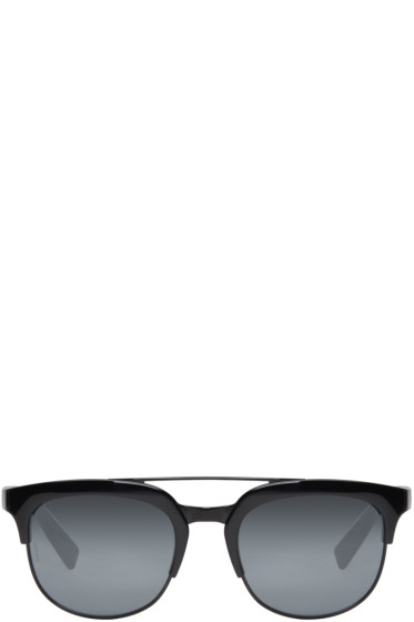 Dolce & Gabbana - Black Double Bridge Sunglasses