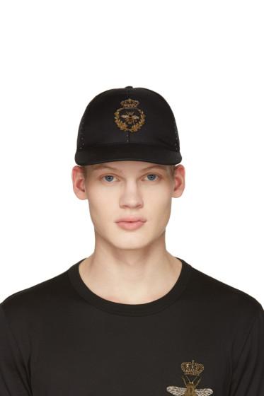 Dolce & Gabbana - Black Crown Bee Cap
