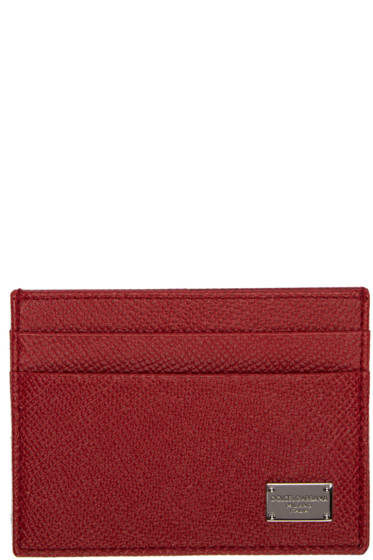 Dolce & Gabbana - Red Classic Logo Card Holder