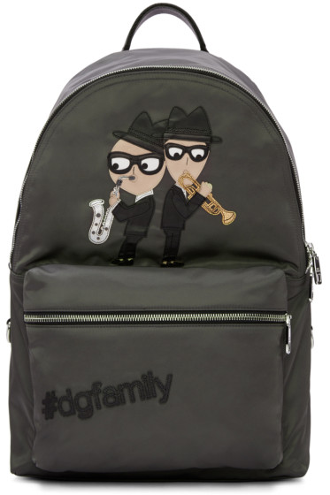 Dolce & Gabbana - Grey Nylon Jazz Players Backpack