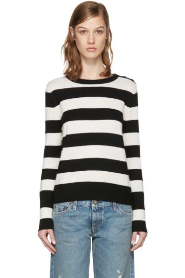 Rag & Bone - White & Black Careen Stripes Pullover