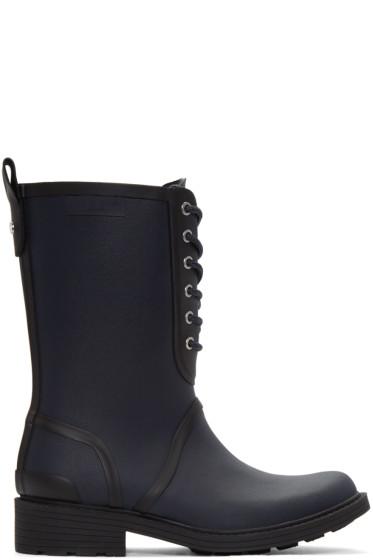 Rag & Bone - Navy Ansel Rain Boots