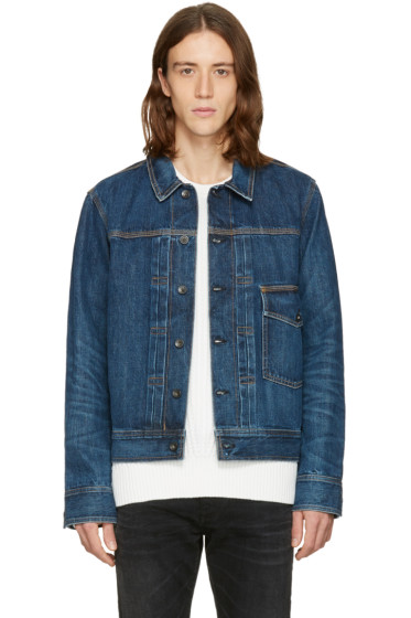 Rag & Bone - Blue Denim Bartack Jacket