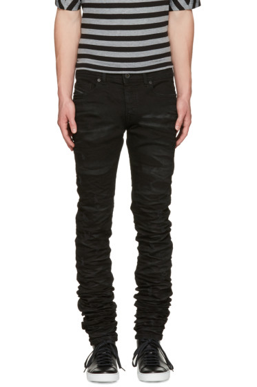 Diesel Black Gold - Black Super Long Skinny Jeans