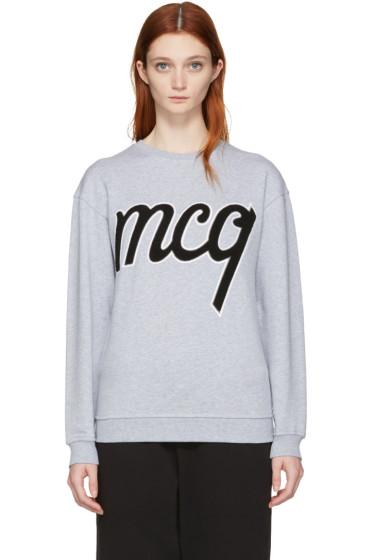 McQ Alexander Mcqueen - Grey Logo Classic Pullover