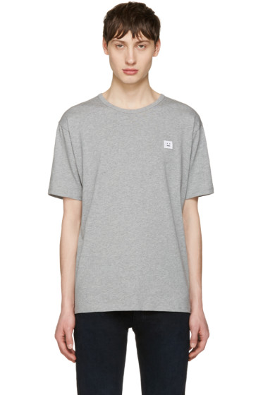 Acne Studios - Grey Niagara Face T-Shirt