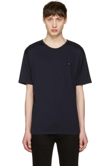 Acne Studios - Navy Niagara Face T-Shirt